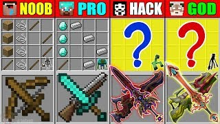 Minecraft NOOB vs PRO vs HACKER vs GOD ABILITY SWORD GUN CRAFTING MUTANT MONSTER CHALLENGE Animation