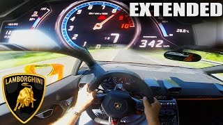 Lamborghini Huracan POV ACCELERATION & TOP SPEED 342 km/h Autobahn Test Drive Sound Exhaust