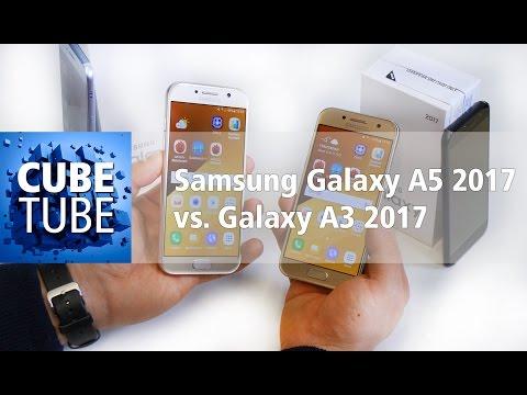 Samsung Galaxy A3 2017 vs Galaxy A5 2017 Vergleich (deutsch HD)
