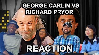 George Carlin vs Richard Pryor - ERB Season 6 (Group Reaction) - Awkward Mafia Watches