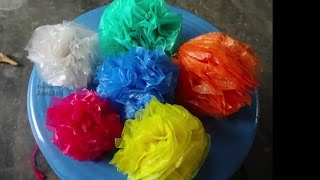Plastic Bags Flower Arts: Plastic Flower By Amma Arts.