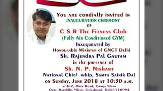 #CSR_ THE FITNESS CLUB OPENING.