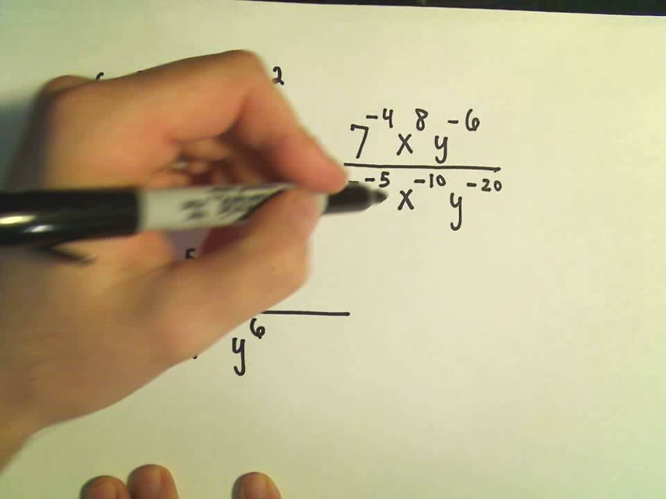Simplifying Expressions with Negative Exponents - Ex 3 - YouTube
