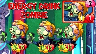 Energy Drink Zombie Plants vs. Zombies Heroes New Card!
