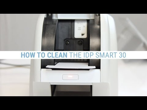 How to Clean the IDP Smart 30 ID Card Printer