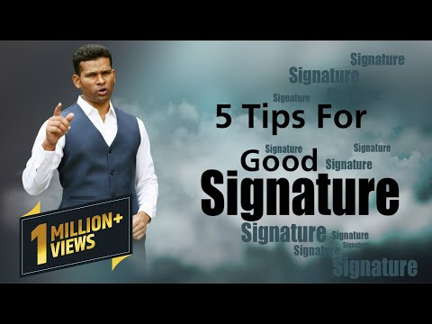 Graphology and 5 Tips For Good Signature...To Make Your Future Brighter...(IN HINDI)