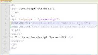 aScript Tutorial 1 - Getting Started - Hello World