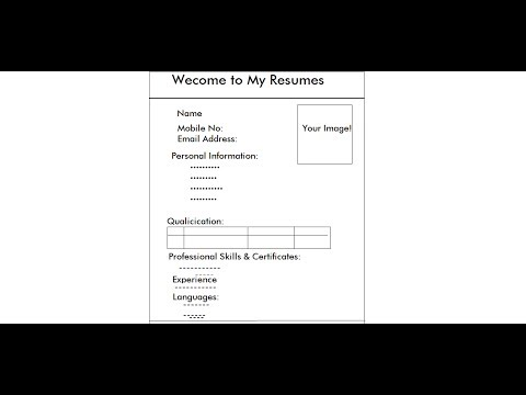 How To Create CV In Html Webpage | Video 1 Of 3