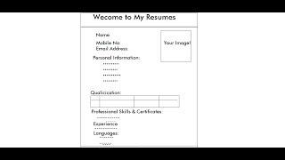 كيفية إنشاء السيرة الذاتية في صفحة ويب Html | الفيديو 1 من 3