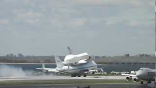 Space Shuttle Enterprise Landing in JFK international airport NYC