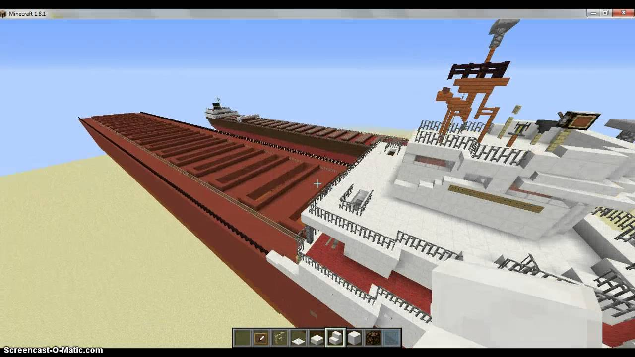how to drive a ship in minecraft