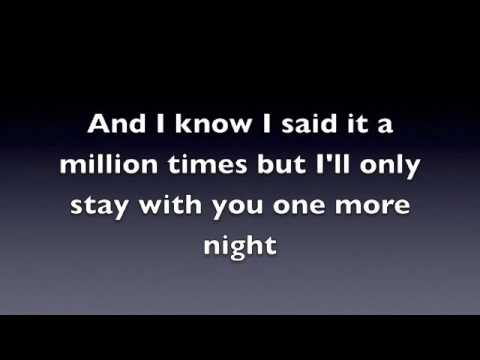 One More Night - Maroon 5 (Official Lyrics) - YouTube