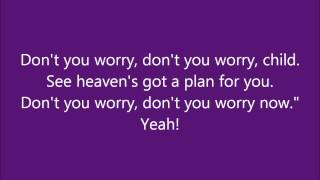 Swedish House Mafia   Dont you worry child  (Lyrics on screen)
