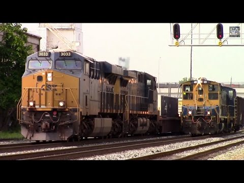 CSX Intermodal Passing a City Yard Job