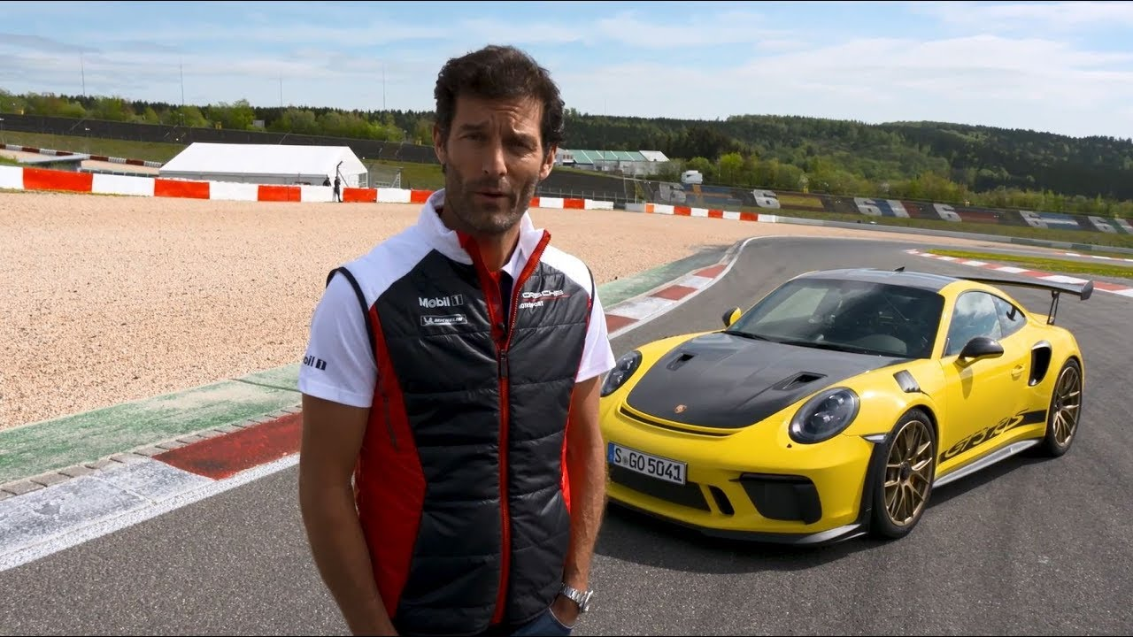 Mark Webber And The Gt Rs On The Nurburgring Grand Prix Circuit Porsche