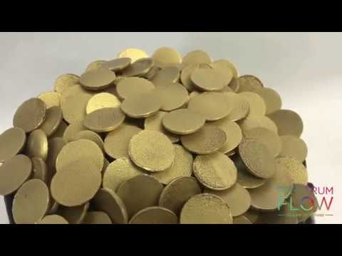 St Patricks Day Cake - Airbrushed Gold Chocolate Coins