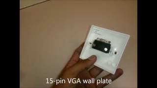 VGA wall port - basic and simple installation