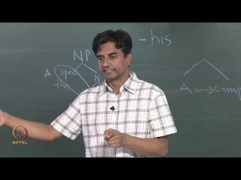 Mod-01 Lec-35 Syntax: Structure of an IP and  Thematic Relations Cont..
