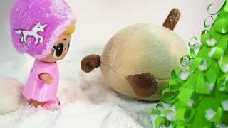 Зимние развлечения куколок lol и Kексика! как LOL лепят снеговика! Лол катаются на санках