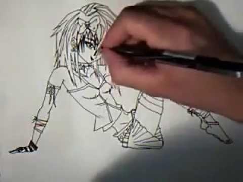 How To Draw Manga Anime Cute Emo Girl Youtube