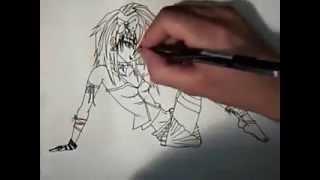 how to draw manga anime cute emo girl