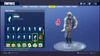 "Fortnite NEW "" AbstraKt "" skin showcased w/ 90 + Dances 