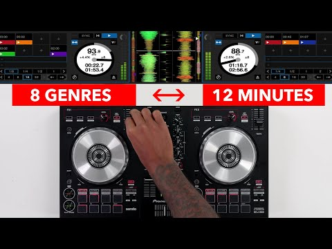 Mixing 8 Genre's in 12 Minutes - Multi Genre Mix + Breakdown Tutorial