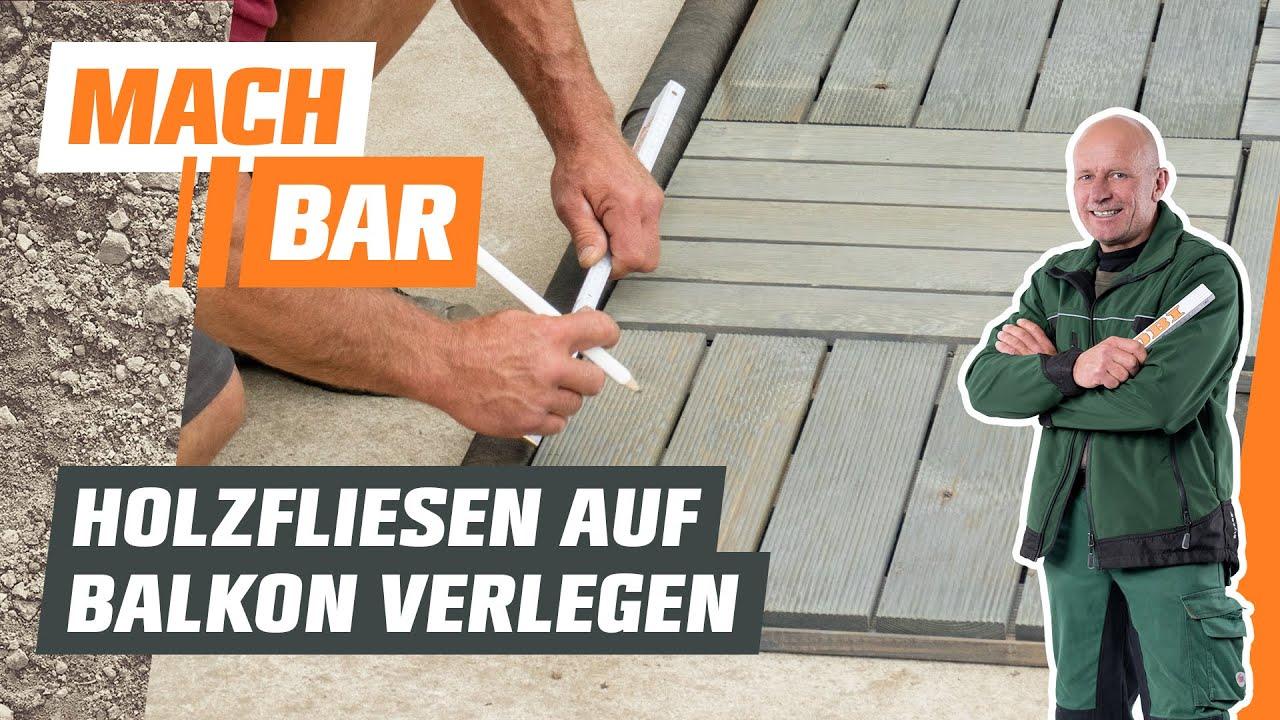 Holzfliesen verlegen für Balkone   OBI