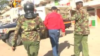 Mihang'o residents protest closure of an access road by KDF