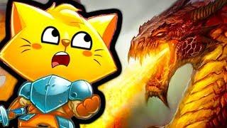 КОТЕНОК РЫЦАРЬ НОВЫЙ ДРАКОН и Новые Враги в мульт игре Cat Quest детский летсплей на канале ФГТВ