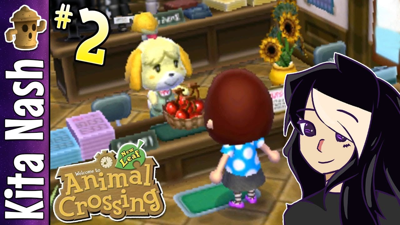 Animal Crossing New Leaf Gameplay PART 2: ISABELLE'S GIFT ...