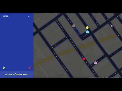 My Very First Let's Play Video!!! Pac-Man Google Maps