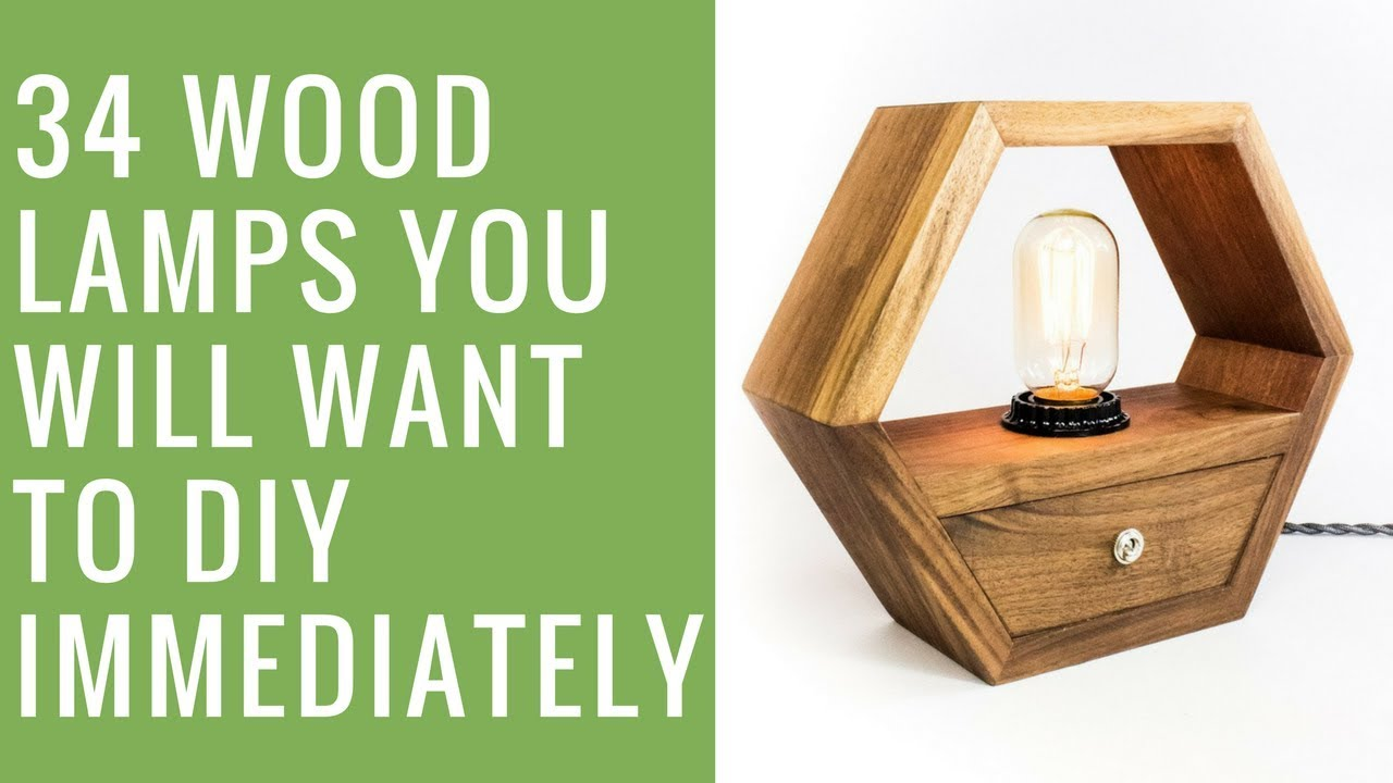 I Like That Lamp: 34 Wood Lamps Youu0027ll Want To DIY Immediately