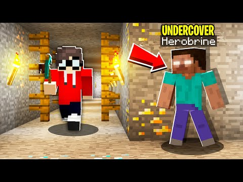 I Pretended To Be HEROBRINE To Scare My Minecraft Friend.. HE FELL FOR IT!