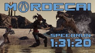 Borderlands Speedrun Mordecai Any% in 1:31:20