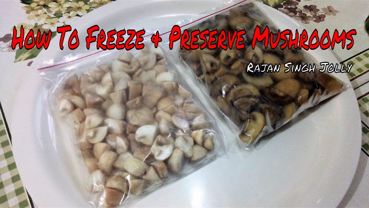 How To Preserve Mushrooms - How To Freeze Fresh Mushrooms : Cooking & Kitchen Tips