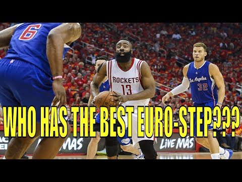 Top 5 NBA Players With The Best Euro-Step!