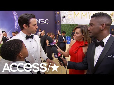 Milo Ventimiglia Crashes His 'This Is Us' Son Lonnie Chavis' 2018 Emmys   Access