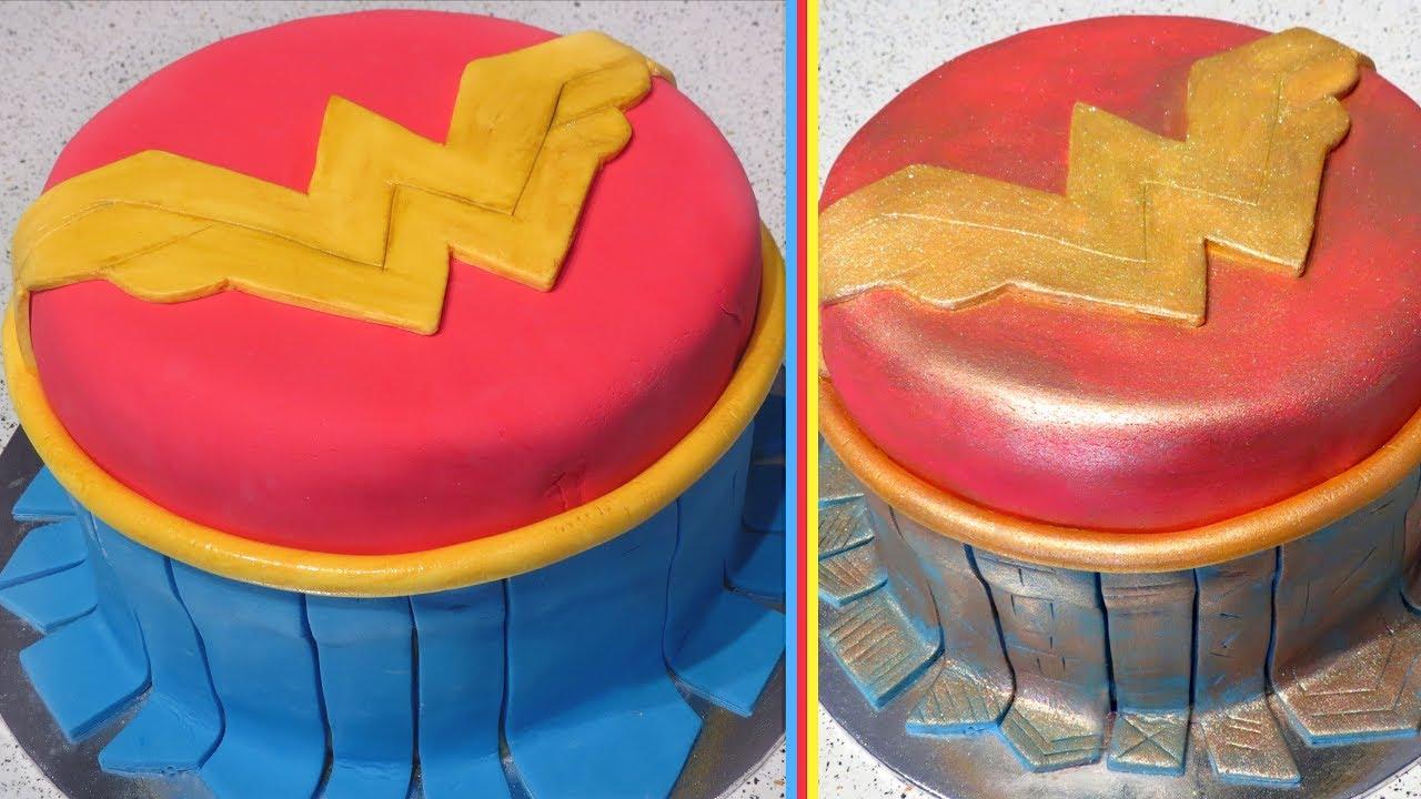 Wonder Woman Cake Decorated 2 Ways Cupcakegirl Youtube
