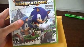 Unboxing Resident Evil Revelations (Nintendo 3DS) & Sonic Generations (XBOX 360) - Brasil