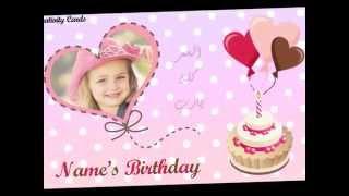 نموذج دعوة عيد ميلاد الكترونية بنات Youtube