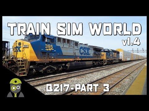 Train Sim World: CSX Heavy Haul - Q217 Service - AC4400CW YN2 - Autorack - Part 3/4