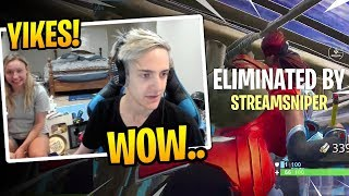 Ninja's WIFE Watches Ninja PLAYING and Getting Stream Sniped! - Fortnite Best and Funny Moments
