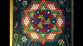 Recycled DIY:  Practice your new RANGOLI art with bubble cover (very useful for rangoli lovers)