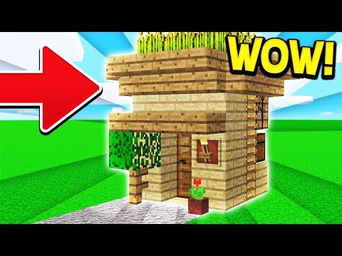 HOW TO BUILD A SIMPLE HOUSE IN MINECRAFT!