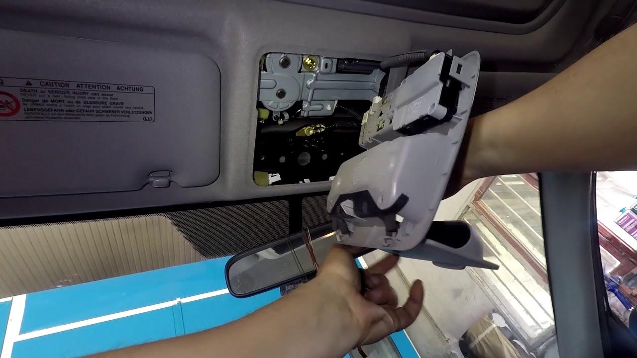 Toyota RAV4 dome light removal on