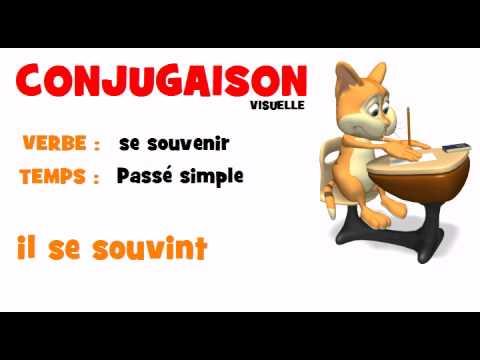 Conjugaison Se Souvenir Passe Simple Youtube