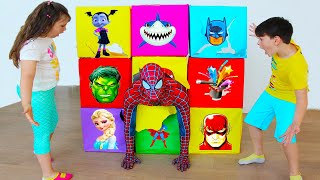 Giant Smash Box Surprise Superheroes Kids Toys with Ali and Adriana