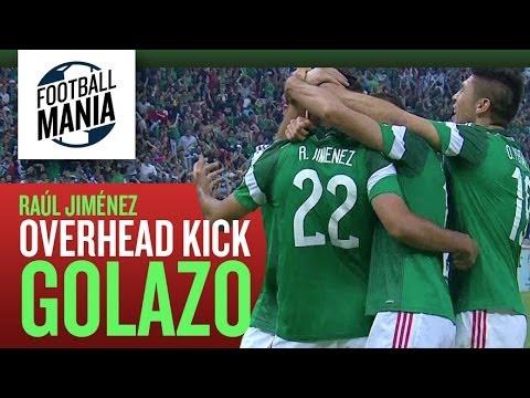 "Raúl Jiménez: Overhead Kick Golazo ""BICYCLE""  Vs Panama - WCQ - Azteca stadium!"