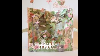 New fun and easy G45 Botanical Tea 3D garden card - Tutorial Card base